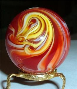 Ketchup and Mustard marble by artist Brian Myers